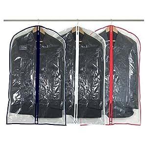 Hangerworld Lot de 12 housses de protection transparentes zippées pour costumes/manteaux