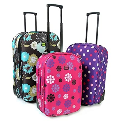 Karabar Super Lightweight Set of 3 Expandable Suitcases - 3 Years Warranty!