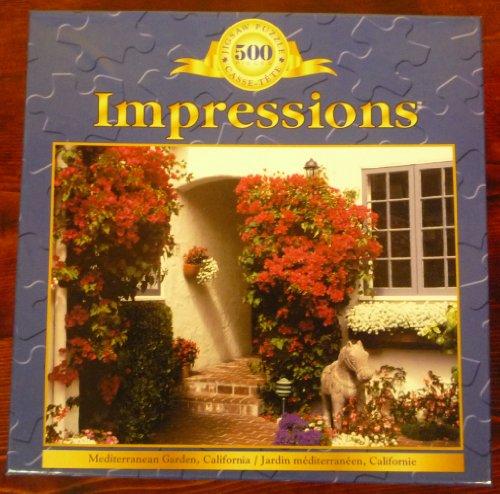 500 Piece Jigsaw Puzzle Impressions Mediterranean Garden California