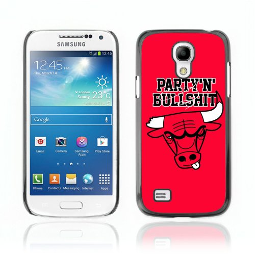 ArtCases ARTCASES CollectionsTM Black Hard Back Case for Samsung Galaxy S4 MINI ( Party Bulls From Chicago Funny ) at Amazon.com