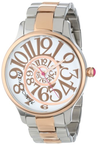 Betsey Johnson Women's BJ00040-17 Analog Two-Tone Optical Dial Watch
