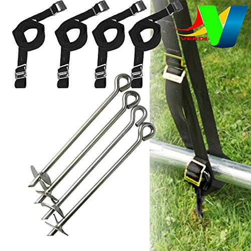 Trampoline Anchor Peg Kit Accessories Fixing Tie Down