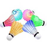 [6-Pack]OuTera LED Badminton Shuttlecock Dark Night Glow Birdies Lighting For Outdoor & Indoor Sports Activities[1 Year Warranty]