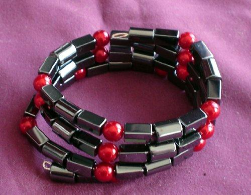 Hematite Coil Cuff Bracelet