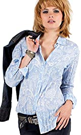 Dusty Blue Paisley Shirt
