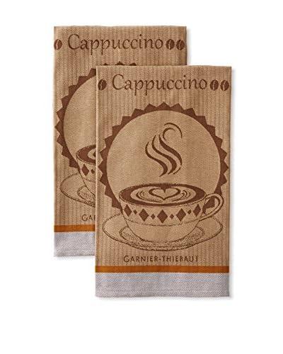 Garnier-Thiebaut Set of 2 Tasses De Cafe Kitchen Towels, Moka
