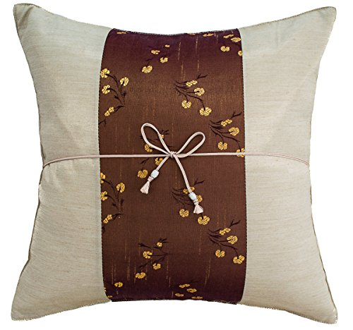 Avarada Striped Mei Floral Flower Throw Pillow Cover
