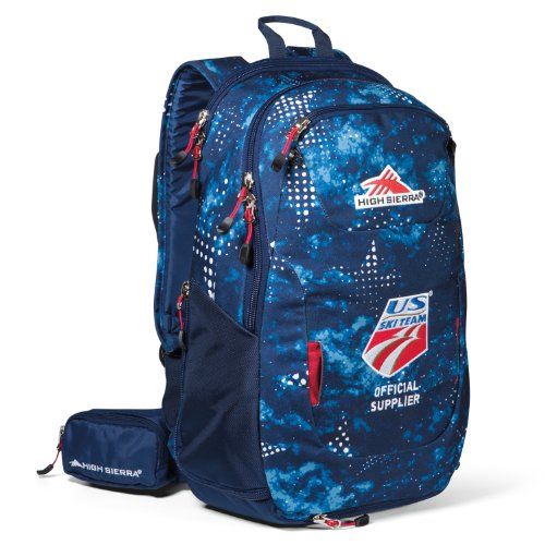 B00G3I411W High Sierra US Ski Team Backpack, Star Gaze True Navy