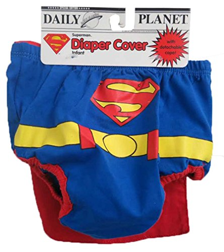 DC Comics Superman Red and Blue Infant Diaper Cover 6-12 months