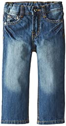 Lee Baby Boys\' Lee Slim Straight Jean, Retro Blue, 12 Months