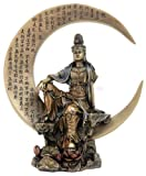 Water & Moon Kuan-yin Kannon Guanyin Statue Heart Sutra - Ships Immediatly !