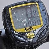 AllThingsAccessory® Neu 2016 Schnurloser Wasserdichter LCD Fahrradcomputer Tacho Geschwindigkeitsmesser Kilometerzähler