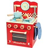 Le Toy Van TV293 Honeybake red toy kitchen oven and wood stove set