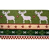 "kmmcd ---- multimat christmas deer ---- Kokos Kokosmatte - WEIHNACHTEN ELCHE --- 43 x 73 cmvon ""Mars & More"""