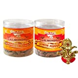 Chocholik Dry Fruits - Almonds Tandoori Masala & Lemon Pepper With Ganesha Idol - Diwali Gifts - 2 Combo Pack