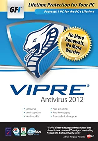 GFI Software VIPRE AV 2012 - 1PC Lifetime