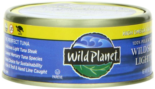 Wild Planet Wild Skipjack Light Tuna, 5-Ounce Cans (Pack of 12)