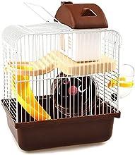 icase4u® jaula de hámster hamster cage, 23x17x30cm, pequeño castillo