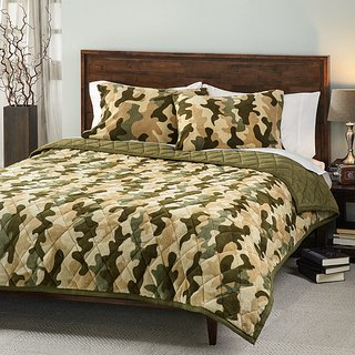 Camouflage 3-Piece Comforter Set- King back-995762