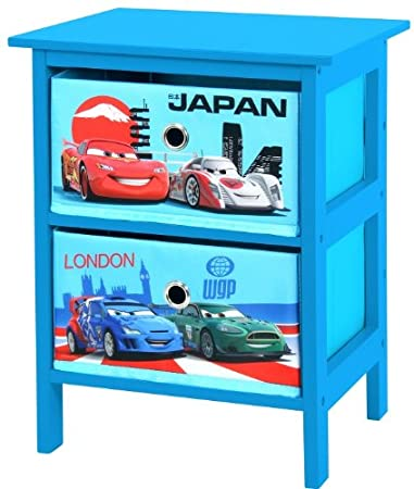 disney pixar cars 2 drawer blue bedroom storage unit exclusive