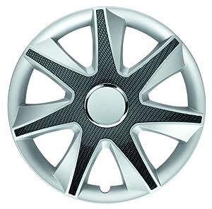 Albrecht 49705 Run Silver/Carbon Bright 15″ Wheel Cover, (Set of 4)
