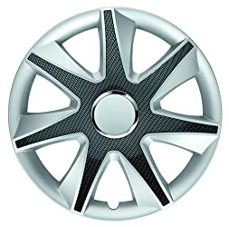 Albrecht 49705 Run Silver/Carbon Bright 15″ Wheel Cover, (Set of 4)
