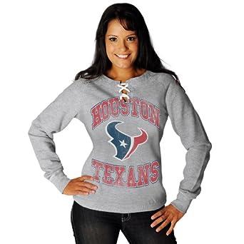 NFL Ladies Houston Texans OT Queen III Steel Long Sleeve Raglan Open Neck Fleece by VF LSG