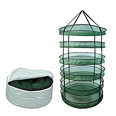 Hydroponics Dry Rack 6 Tier 8 Tier Grow Plant Drying System Net with Carry Bag
