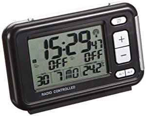 tfa radio controlled alarm clock with temperature kitc. Black Bedroom Furniture Sets. Home Design Ideas