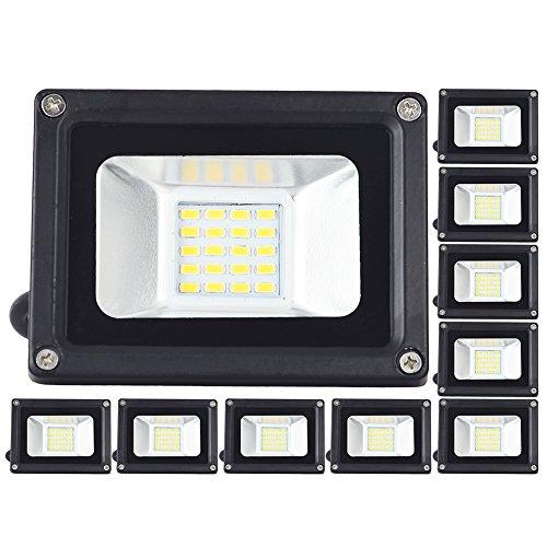 Flood Lumière de sécurité 10W 20W 30W 50W 100W 150W 200W 300W économie d'énergie extérieure LED Projecteur LED IP65 SMD Chaud / Froid