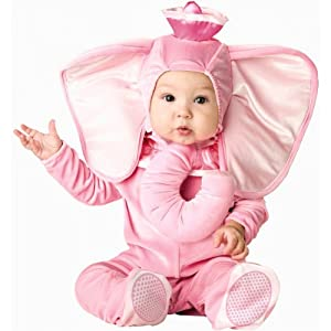 InCharacter Unisex-baby Newborn Pink Elephant Costume, Pink, Small
