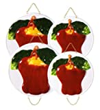 APPLE 3-D Stove / Burner Covers Set of 4 *NEW*