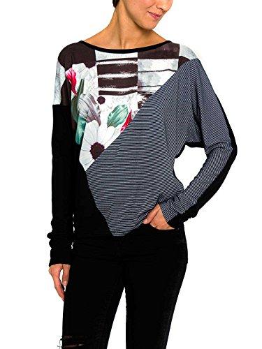 Smash Molina Camiseta con Estampados-A1613330, Camicia a Manica Corta Donna, Nero, M