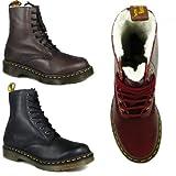 M1 Genuine Dr Martens Modern 8 Eyelet Serena Fur winter Leather Boots