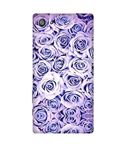 Purple Roses Printed Back Cover Case For Sony Xperia Z5
