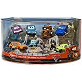 Disney / Pixar CARS 2 Movie Exclusive 148 PVC Plastic Car 7Pack Deluxe Figurine Playset Includes Holley Shiftwell, Professor Z, Mater, Acer More!