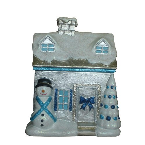 Martha Stewart Living Holiday Frost 9.75 in. Snow Covered Christmas Village