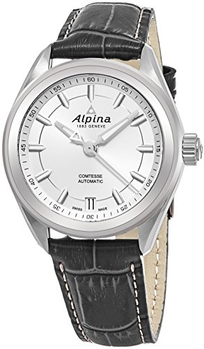 Alpina Comtesse Sport Automatic Womens Grey Leather Strap Swiss Watch - 34mm Silver Face Automatic Watch AL-525SF2C6 - 51waK0FeNbL - Alpina Comtesse Sport Automatic Womens Grey Leather Strap Swiss Watch – 34mm Silver Face Automatic Watch AL-525SF2C6