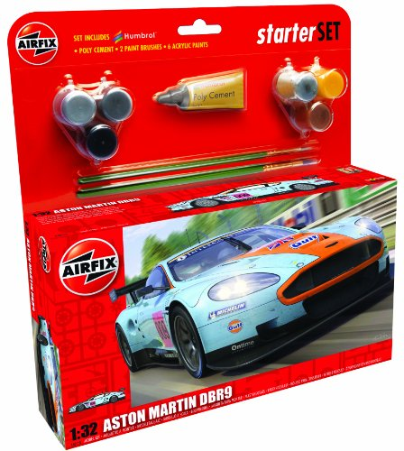 Airfix A50110 Aston Martin DBR9 Gulf 1:32 Scale Endurance Car Category 3 Gift Set (Including Paint Glue And Brushes) (Aston Martin Cars compare prices)