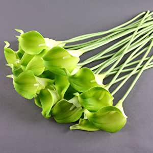 Calla Lily Bridal Wedding Bouquet Latex Real Touch Flower