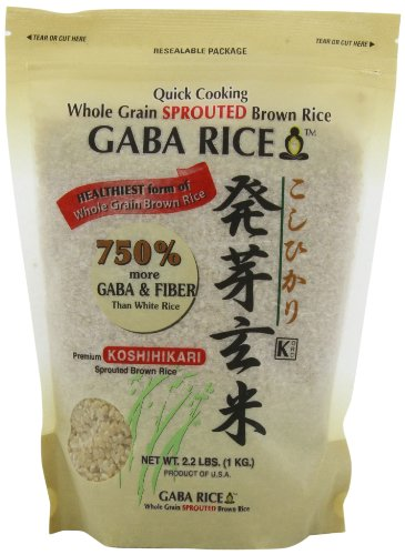 Koshihikari Premium Sprouted Brown Gaba Rice, 2.2-Pound Pouches (Pack Of 2) front-64048