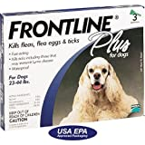 Frontline PLUS for Dogs 45-88 Lbs. ~~ 3 Pack
