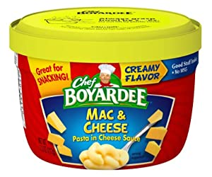 Amazon com : Chef Boyardee Macaroni and Cheese 7 5 Ounce Microwavable Bowls (Pack of 12