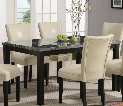 Buy Low Price Coaster Dining Table with Faux Marble Top in Deep Cappuccino Finish (VF_102261)