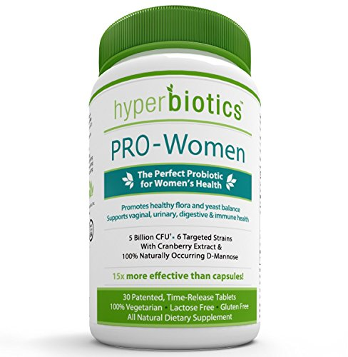 PRO-Women: Probiotics for Women with Cranberry Extract & 100% Naturally-Occurring D-Mannose - 15x More Effective than Capsules with Patented Delivery Technology - 30 Once Daily Time Release Tablets
