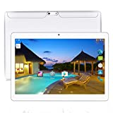 Yuntab 10.1 inch Android 5.1 Lollipop unlocked smart phone tablets PC Webcam 2G, 3G/Wifi 1GB+16GB MTK 6580 Quad-Core Phablet Pad with dual camera 0.3MP+2MP, Phone googleTablet , Unlocked Dual Sim Card Slots, Bluetooth, GPS, WIFI, USB OTG, Stereo Speakers, IPS touch screen 1280X800 cellphone Built 2x Normal DUAL Sim Card Slot (White)