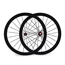 Baixiang 700c 44mm Clincher Carbon Fiber Road Bike Wheels 23mm Width Bicycle Parts Wheelset for Shimano