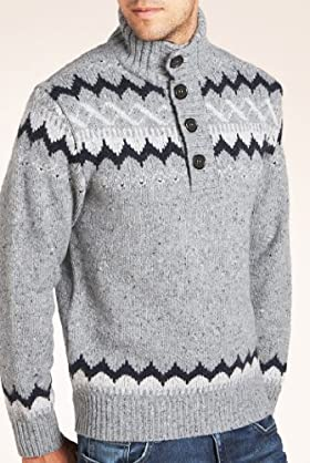 North Coast Lambswool Blend Fair Isle Jumper [T30-4409N-S]