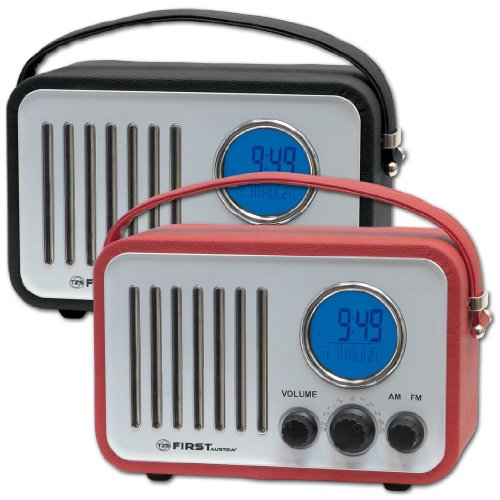 Retro Radio Kofferradio Nostalgie AUX IN! Leder-Optik