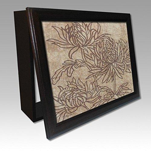 molduras-y-cuadros-garcia-cubrecontador-lamina-flores-contornos-marrones-y-moldura-nogal-madera-colo
